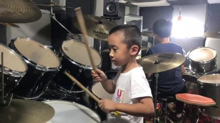 赵志架子鼓教学 王增鑫 超级英雄 巩固复习 热身