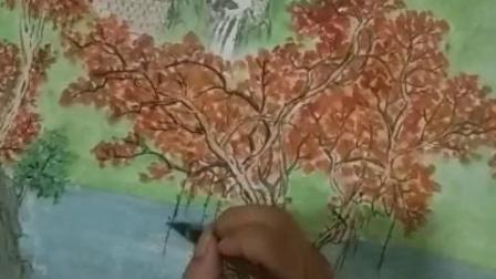 """金代晟老师之山水画""""树树皆秋色  山山唯落晖"""""""