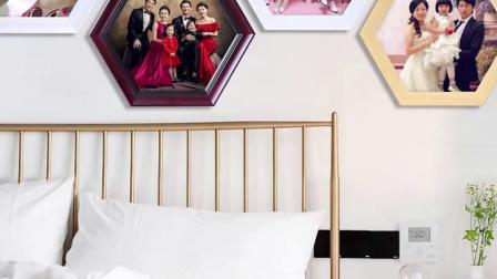 现代简约公司学校背景墙挂画框装饰办公室文化创意组合照片相框定製
