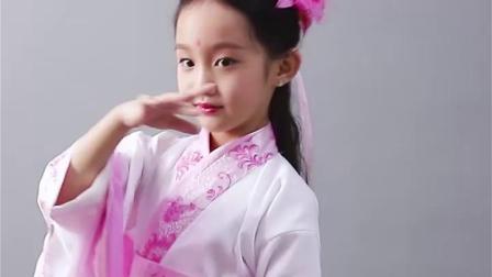 儿童古装汉服演出服唐装女童汉服仙女装表演服古代贵妃公主裙古筝