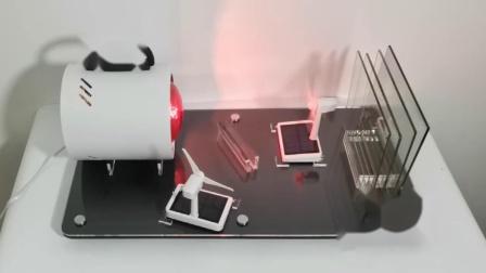 君晓天云汽车隔热膜隔热性能测试仪器道具防爆玻璃膜烤灯风扇红外线展示架