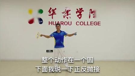 华柔柔力球【任鹏飞】花式柔力球常用技术动作——正反抛接