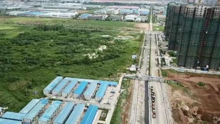 滁州市来安县汊河新区向荣路西侧62+66亩招拍挂地块道路视频