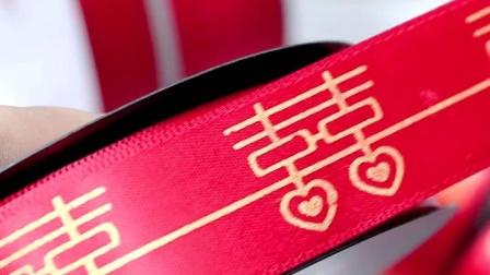 君晓天云卓彩 红色丝带婚礼彩带4S店汽车扎带结婚喜糖盒缎带回礼大红色缎带