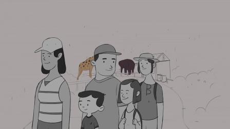 环保讽刺动画短片《我们爱动物》