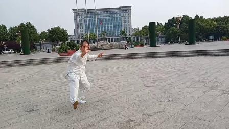 任县董氏太极拳研究会会长王岐芳拍于2019年8月19日