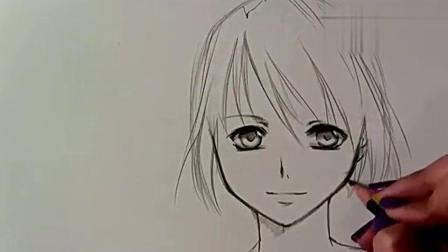 手绘漫画教程-女生的画法