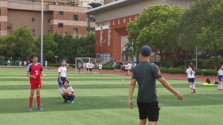 原地顶球练习——上海市长宁区校园足球联盟足球精英头球训练