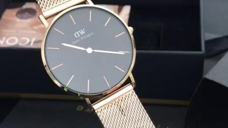 DW最简约时尚风,丹尼尔惠灵顿简单两针字面,实拍鉴赏
