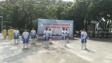 2019年8月10日全民健身表演华岳心意六合八法拳