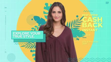 AE1247 AE模板-小清新 青春时尚 时装模特秀 服装衣服品牌包装宣传短片头