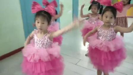 君晓天云儿童蓬蓬洋装演出服女童亮片现代舞蹈纱裙表演幼儿粉可爱蛋糕裙