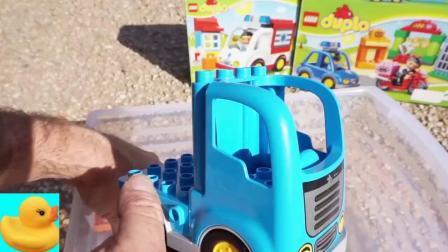 玩具拆盒组装各式工程车玩具
