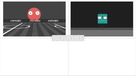 V4 PR预设-动态卡通可爱小人解说场景图标MG动画