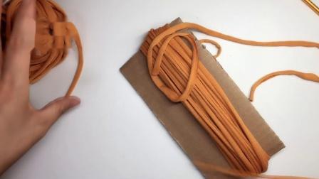 小吉祥编织  布条线装饰流苏做法