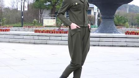 君晓天云春秋军迷西装领套装女水兵舞服装全新女套装2019新款国军服三件套