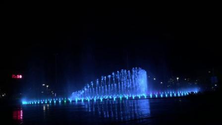 2019年8月22日海口日月广场音乐喷泉
