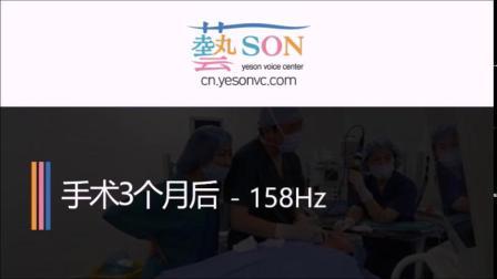 中国患者3个月后嗓音对比