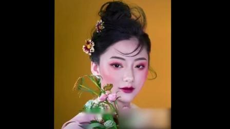 少女心妆容+少女心美甲,满满的恋爱的味道,出自合肥创美专业化妆培训学校