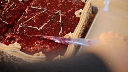 菲茹扎糕点feruza独家树莓蛋糕。