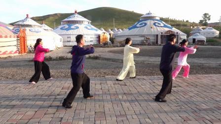 黄骅市太极协会传承太极文化赴乌兰布统草原展示太极风采