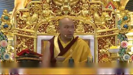 大宝法王 领僧众唱颂《第十七世大宝法王噶玛巴长寿赞》(新旋律)