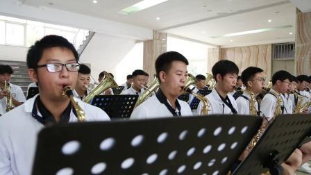 河南长葛:学生管乐奏起《我和我的祖国》