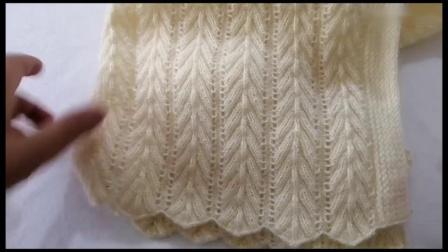 毛衣棒针编织花样,像麦穗精致漂亮,可织打底衫或套衫_高清