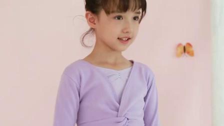 君晓天云舞蹈服儿童女秋冬练功服女童长袖衣服芭蕾舞裙加厚服装中国舞套装