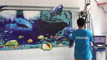 君晓天云热销首汇正品5d墙体彩绘机工业级3D立体墙面广告背景墙打印喷绘机