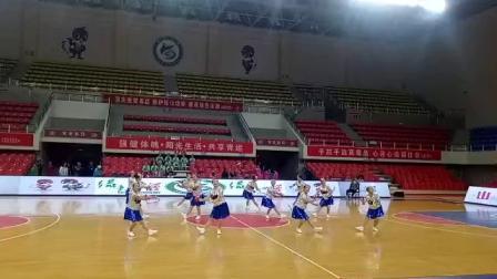 灵石老年体协参加山西省健身球交流赛自编套路