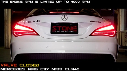 MERCEDES AMG CLA45 x STONE EXHAUST Cat-back Sound