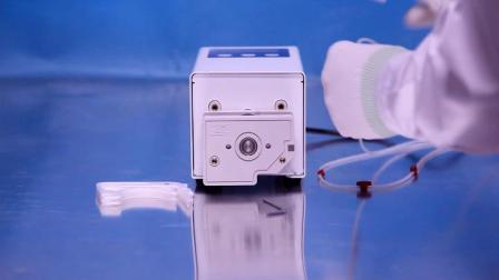 兰格实验室蠕动泵L100-1E泵头及软管安装