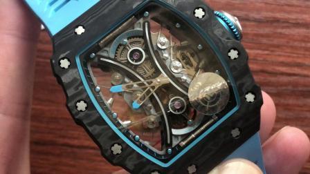 JB新品 里查德米尔男士系列RM53-01碳纤维陀飞轮