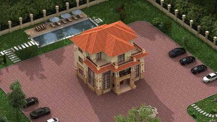 家里建房图纸大全,三层欧式小别墅