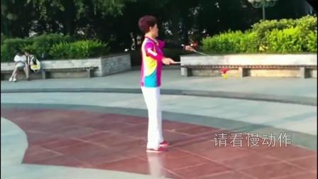 汉川美女吴艳红空竹动作展示《大撒把》