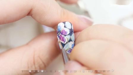 【你求窝教-第1395期】果冻层叠 蓝色水彩花