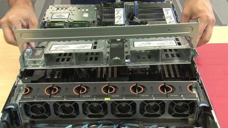 Lenovo ThinkSystem SR655 installing a 2.5 inch middle drive cage