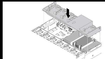 Lenovo ThinkSystem SR655 installing an air baffle