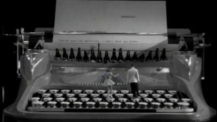 Ruby Keeler Taps on Giant Typewriter, 1937