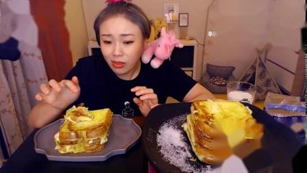 韩国吃播-挑食的新姐-20190829【越南米粉、越南春卷、煎蛋吐司