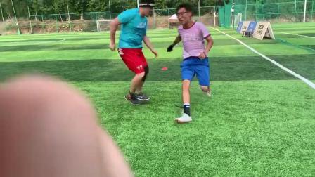 两人对抗shuffle防守训练