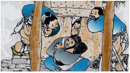 中国民间笑话《抢枕头》