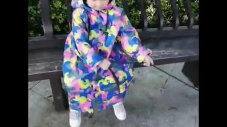 君晓天云儿童雨衣男童女童小学生幼儿园宝宝卡通防水雨披加厚带书包位