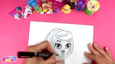 闪光和闪光绘画与惊喜玩具闪光发光利亚塔拉纳哈尔泽塔玩具