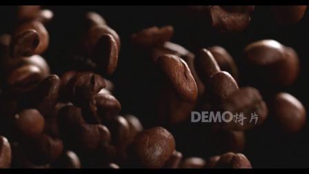 f225 2K高清画质饱满褐色咖啡豆洒下拍摄视频咖啡店咖啡饮品宣传素材