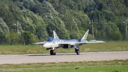 MAKS-2019莫斯科航展Su-57战机编队&单机飞行表演