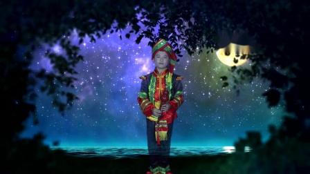 月光下的凤尾竹演奏者天创艺术团暑假班小学员赵相印