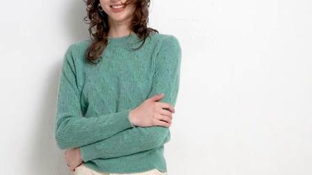 君晓天云100%纯羊绒衫女圆领套头毛衣镂空打底衫短款修身长袖针织女装新款