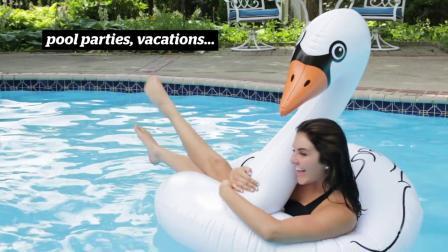 君晓天云巨型游泳圈 黑天鹅白天鹅救生圈水泡 ins网红度假拍摄摄影道具